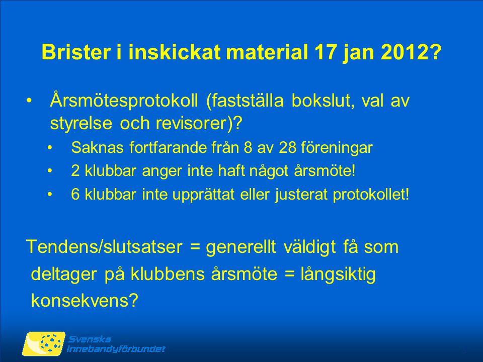5 Brister i inskickat material 17 jan 2012.