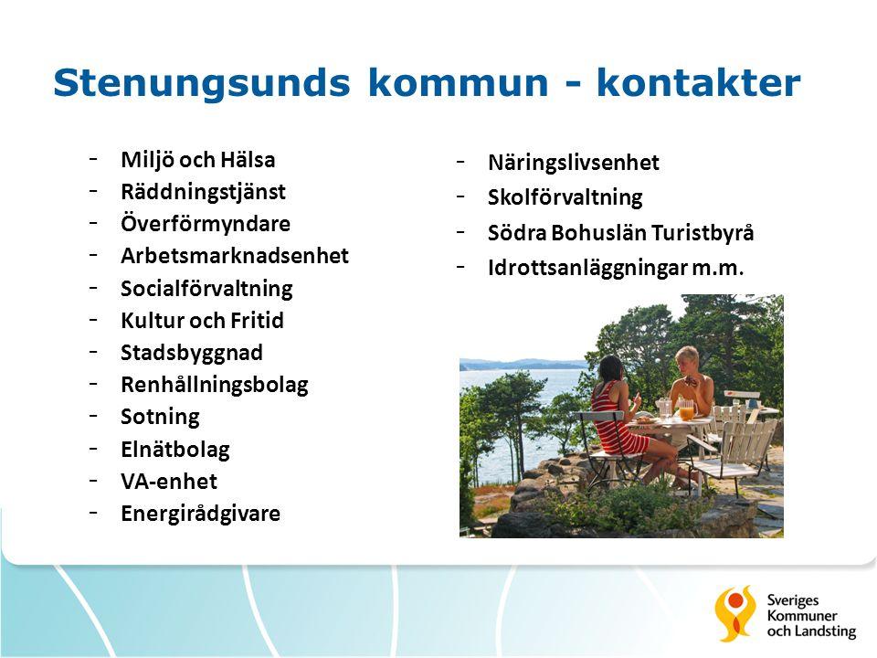 Stenungsunds kommun - kontakter - Miljö och Hälsa - Räddningstjänst - Överförmyndare - Arbetsmarknadsenhet - Socialförvaltning - Kultur och Fritid - S