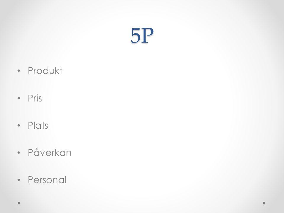 5P Produkt Pris Plats Påverkan Personal