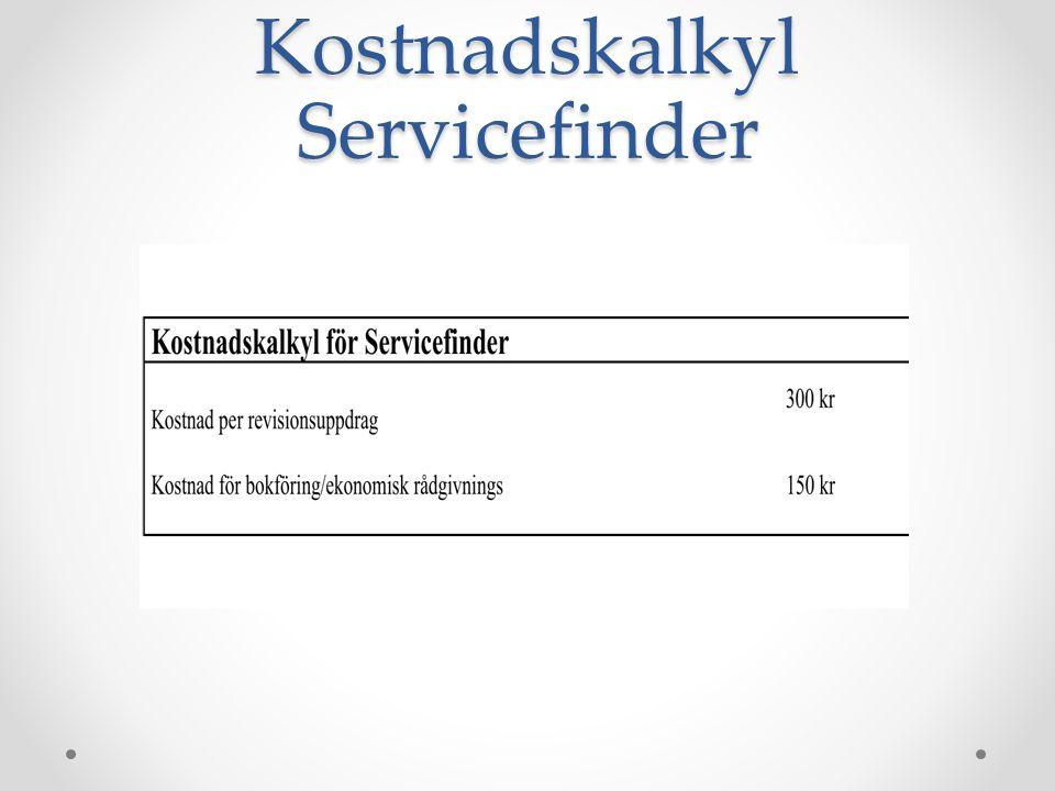 Kostnadskalkyl Servicefinder