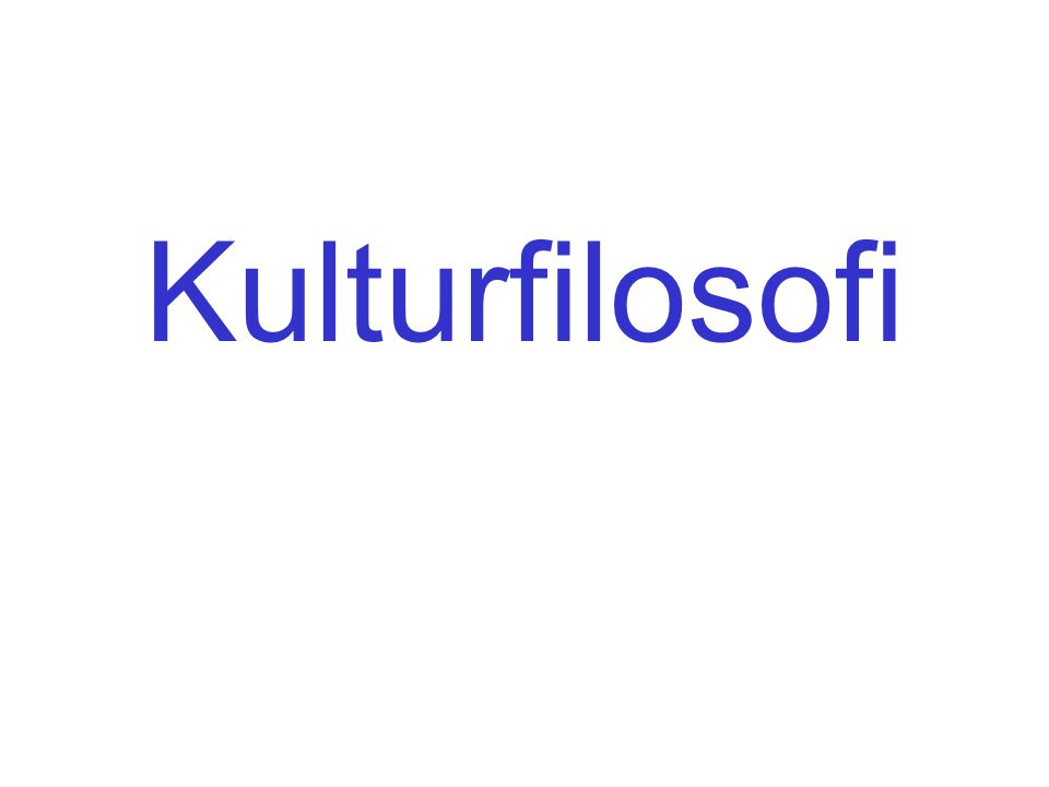 Kulturfilosofi