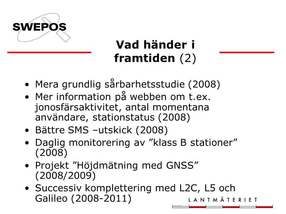 Mera grundlig sårbarhetsstudie (2008) Mer information på webben om t.ex.