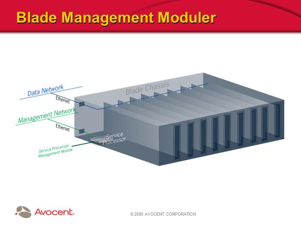© 2006 AVOCENT CORPORATION Blade Management Moduler
