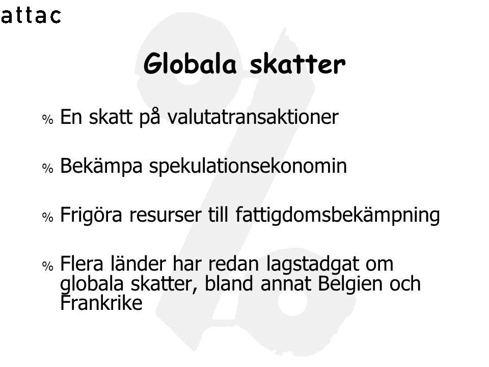 Skatterättvisa % Avskaffa skatteparadisen % Från den svenska statskassan smugglas 20-35 miljarder kronor varje år.