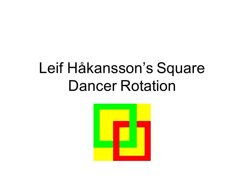 Leif Håkansson s Square Dancer Rotation 32 Generella principer Efter flytten fördelas de återstående Beau or Belle dansarna till Beau resp.