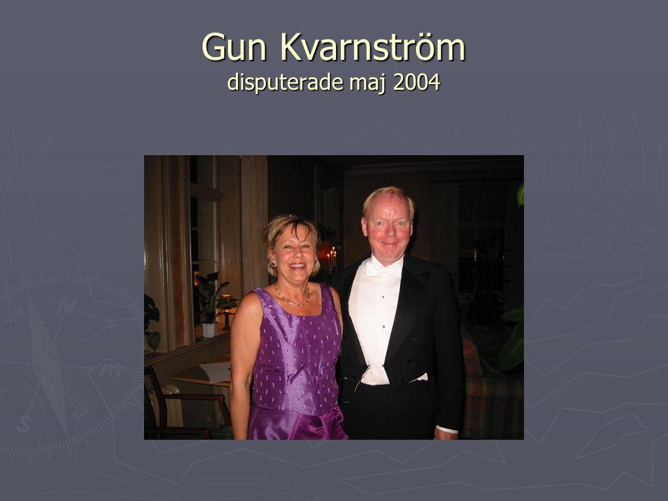 Gun Kvarnström disputerade maj 2004
