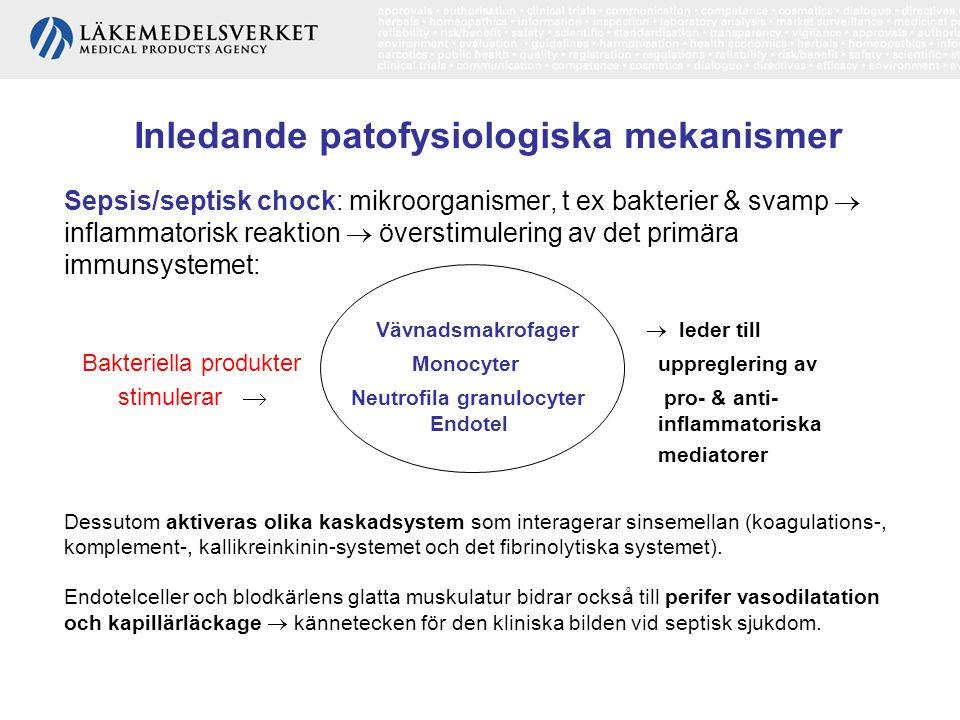 Hemodynamisk patofysiologi Tät monitorering: hjärtfrekvens, blodtryck och andningsfrekvens för att förhindra utveckling till chock.
