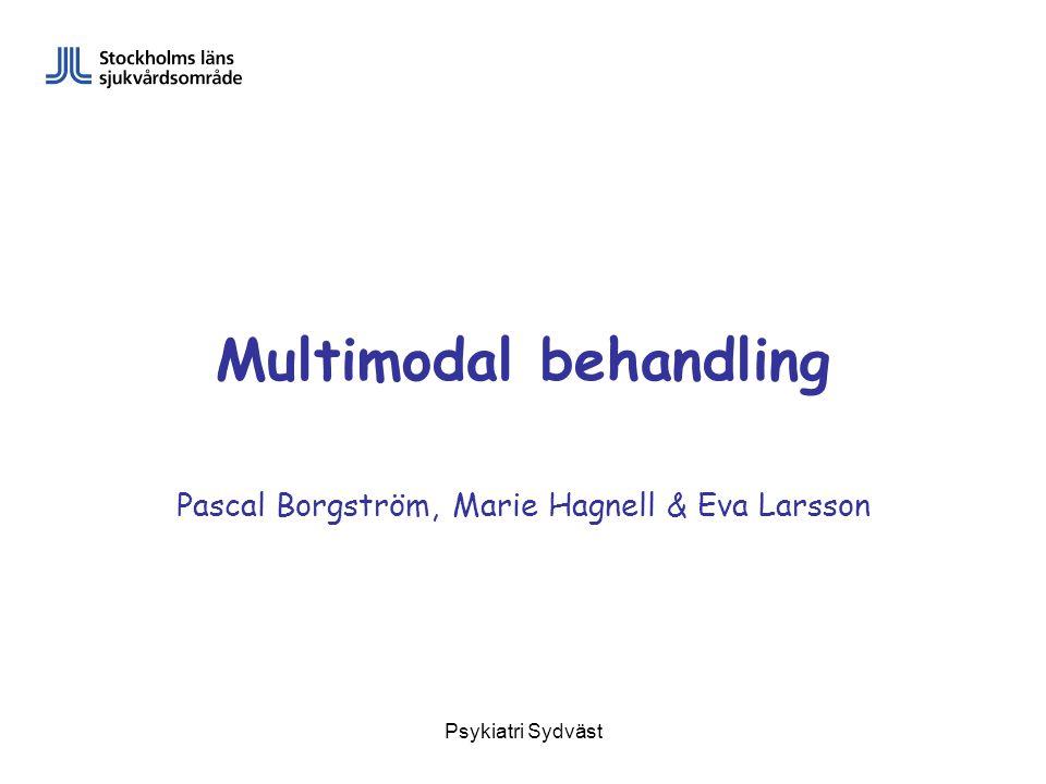 Psykiatri Sydväst Multimodal behandling Pascal Borgström, Marie Hagnell & Eva Larsson