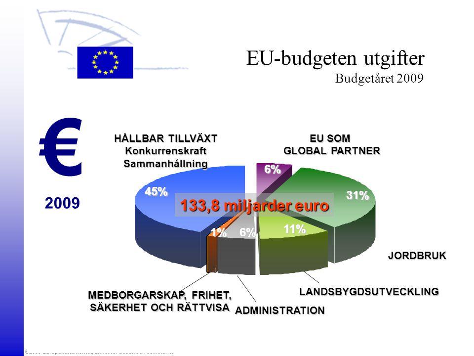 ©2009 Europaparlamentet, Enhet för besök och seminarier EU SOM GLOBAL PARTNER JORDBRUK ADMINISTRATION HÅLLBAR TILLVÄXT KonkurrenskraftSammanhållning M