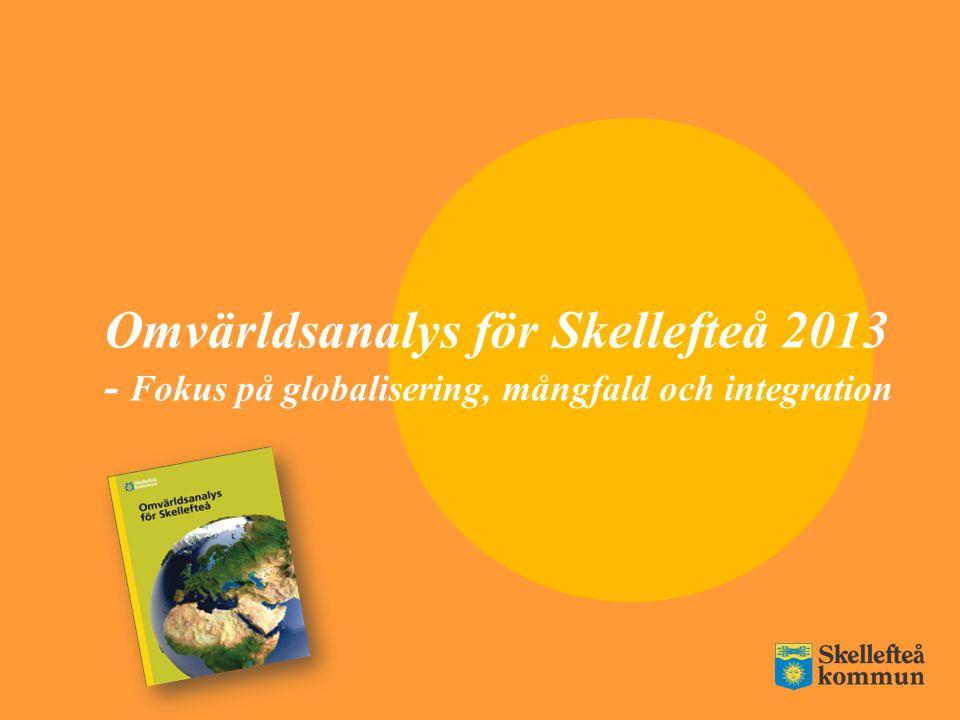 Omvärldsanalys för Skellefteå 2013 - Fokus på globalisering, mångfald och integration