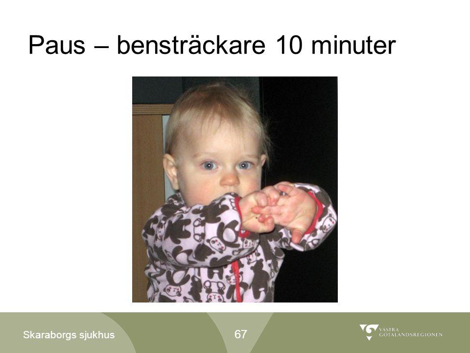 Skaraborgs sjukhus Paus – bensträckare 10 minuter 67