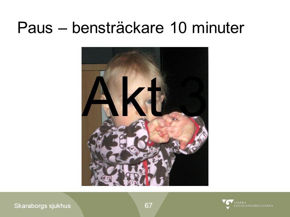 Skaraborgs sjukhus Paus – bensträckare 10 minuter 67 Akt 3