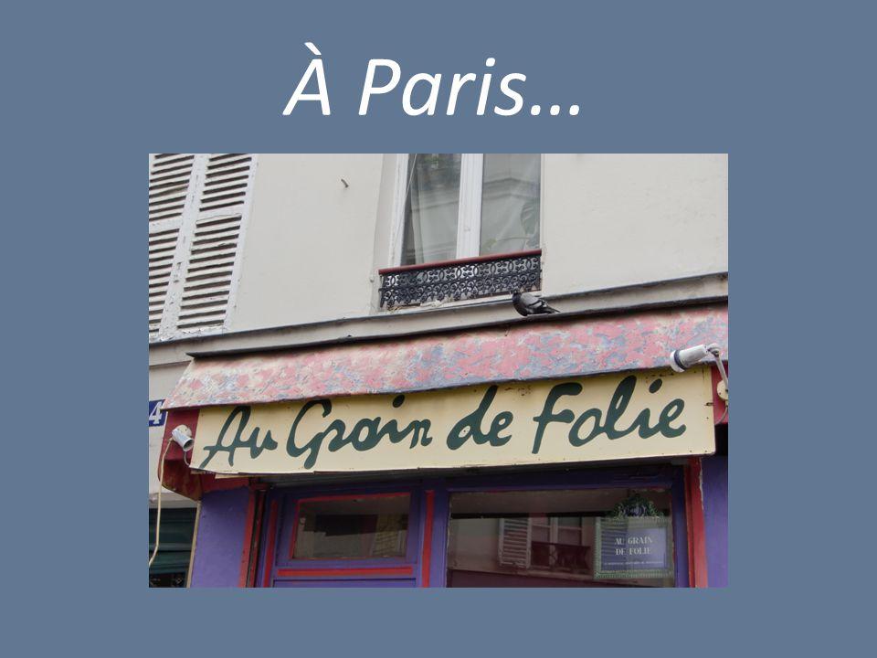 À Paris…