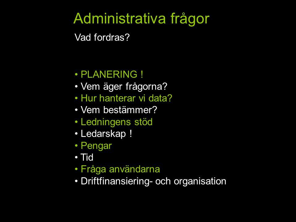 Administrativa frågor Vad fordras. HemFlik 2Flik 3Flik 4Flik 5 PLANERING .