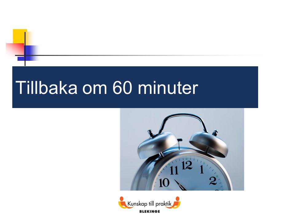 Tillbaka om 60 minuter