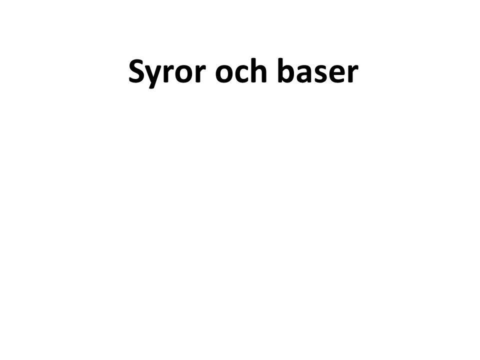 E.Sambandet mellan baser och hydroxidjoner Baser är motsatsen till syror.