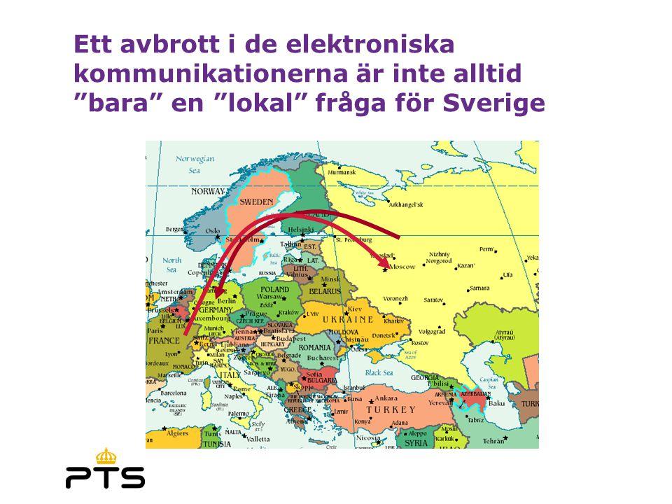 """Ett avbrott i de elektroniska kommunikationerna är inte alltid """"bara"""" en """"lokal"""" fråga för Sverige"""