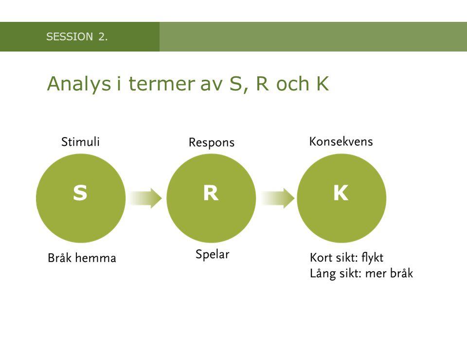 SESSION 2. Analys i termer av S, R och K SRK
