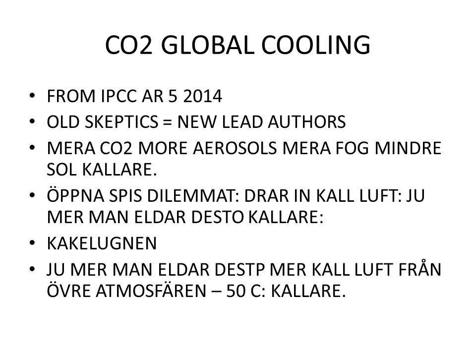 CO2 GLOBAL COOLING FROM IPCC AR 5 2014 OLD SKEPTICS = NEW LEAD AUTHORS MERA CO2 MORE AEROSOLS MERA FOG MINDRE SOL KALLARE. ÖPPNA SPIS DILEMMAT: DRAR I