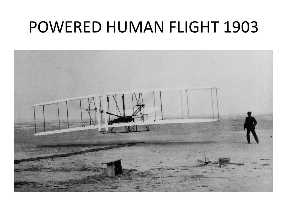 POWERED HUMAN FLIGHT 1903