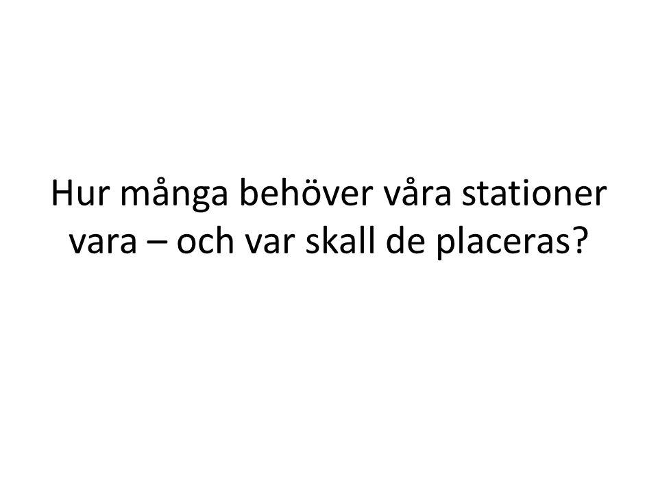 Hur många behöver våra stationer vara – och var skall de placeras?