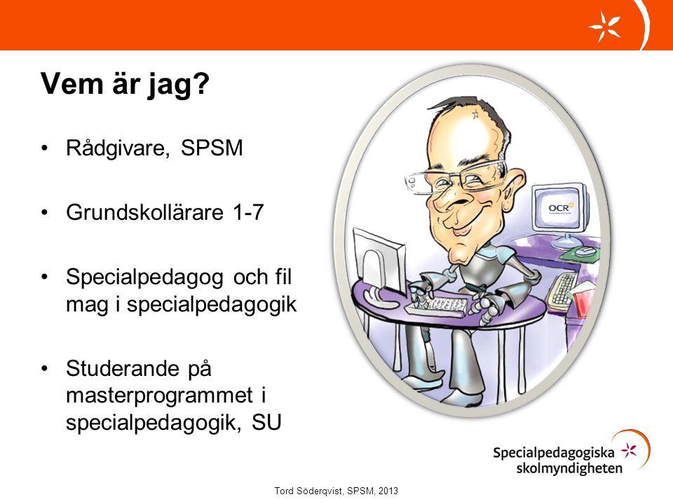 Implementering av it och alternativa verktyg Tord Söderqvist, SPSM, 2013