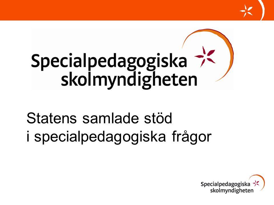 Statens samlade stöd i specialpedagogiska frågor