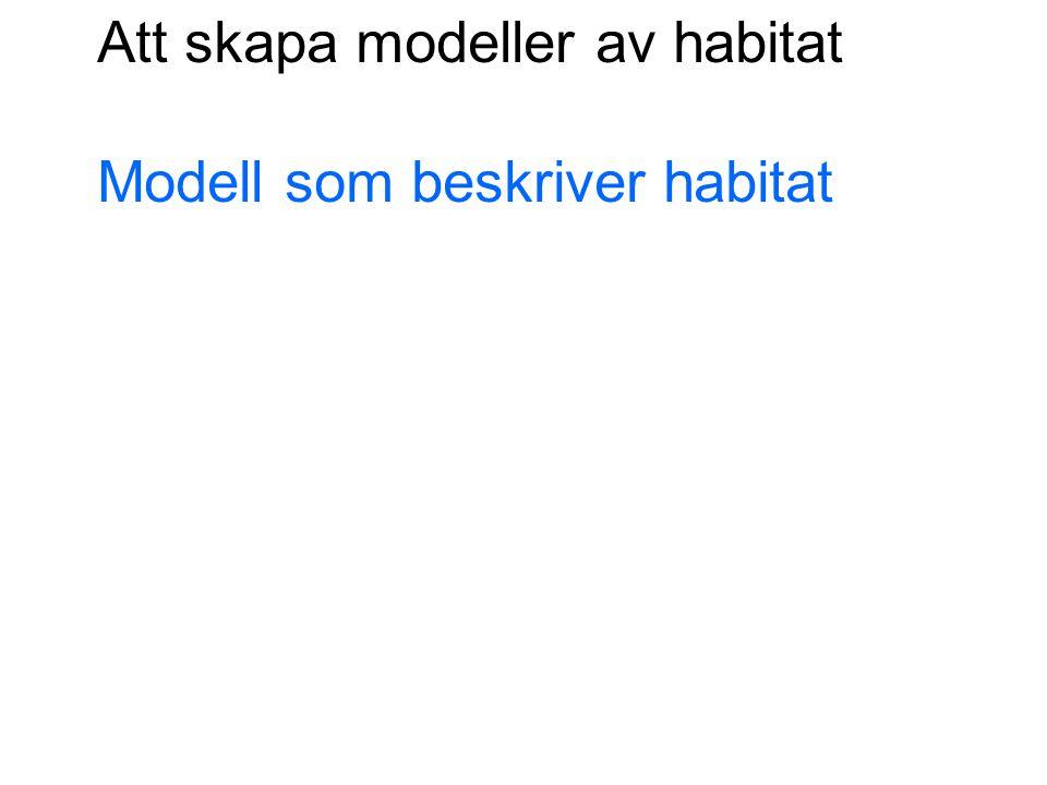 Modell som beskriver habitat