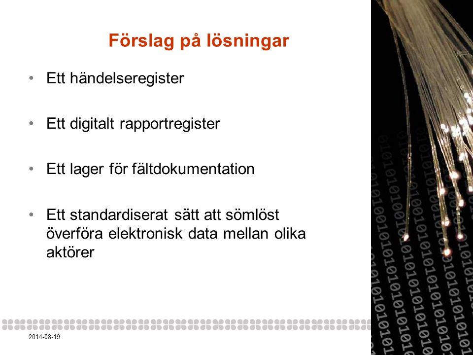 62014-08-19 Mål för DAP Digitaliserad informationsöverföring Ett digitalt arkiv för arkeologisk data Tillgång till källdatan Semantiskt länkad data Öppet licensierad och återanvändningsbar data Händelseregister ( biografier för fornlämningar ) 'Anchor Men of the Mauretania' Tyne and Wear Archives and Museums (flickr) 'CERN storage servers' – skimaniac (flickr) 'Come in We're Open' – jilleatsapples (flickr)