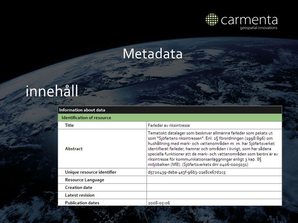 Metadata inneh å ll