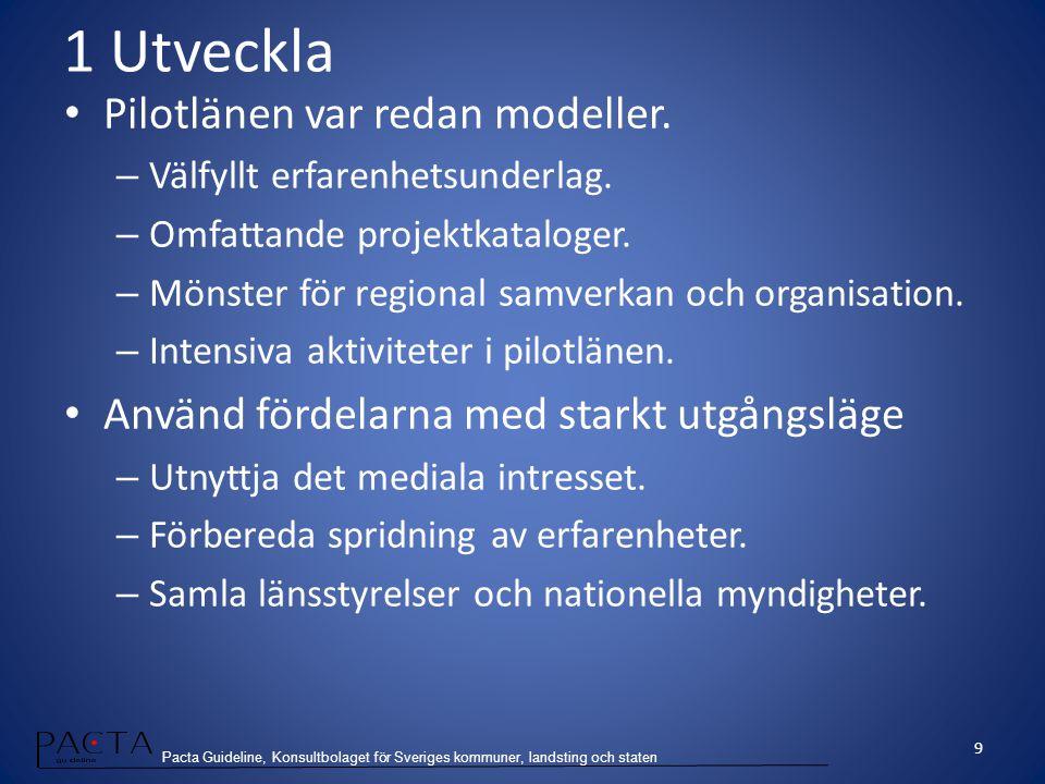 Pacta Guideline, Konsultbolaget för Sveriges kommuner, landsting och staten 2 Vägleda Generella metoder för att räcka till.
