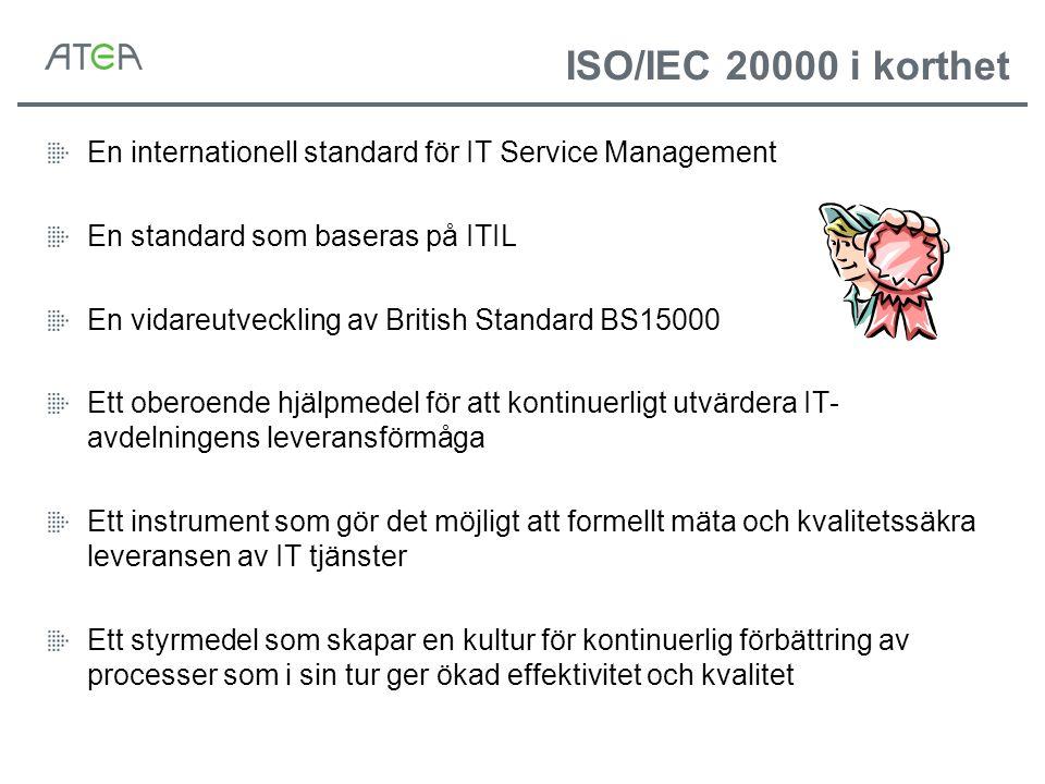 IT Service Management IT Tjänster