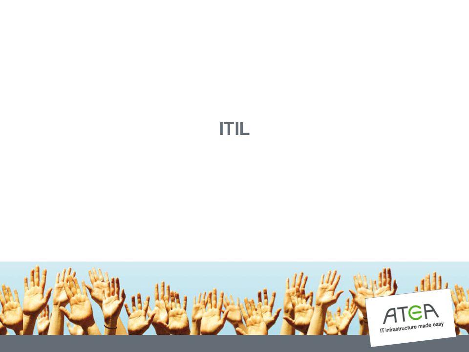 IT Infrastructure Library ITIL – The IT Infrastructure Library Rekommenderad Best Practice Initierat av Office of Government Commerce i Storbritannien ITIL är uppdelat i olika områden/funktioner, med varsin tillhörande dokumentation Används av mer än 10.000 stora företag runt om i världen.