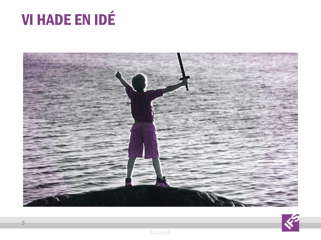 VI HADE EN IDÉ © 2013 IFS 3
