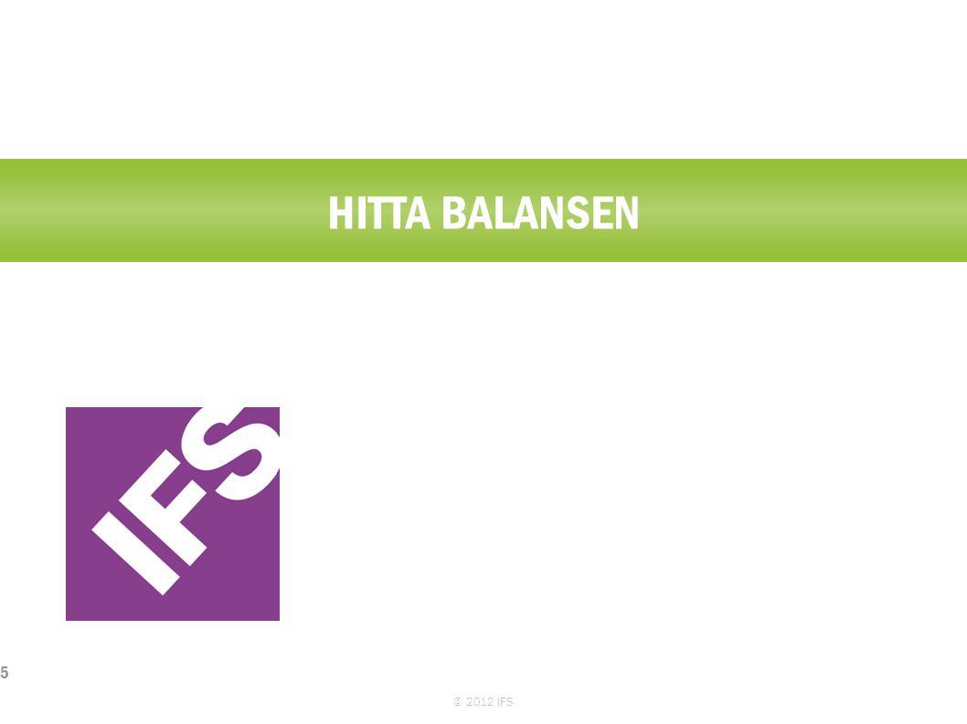 HUR LÅNGT KAN VI NÅ? © 2012 IFS 6 $ Time Intäkter/OEE Kostnader/Antal anställda
