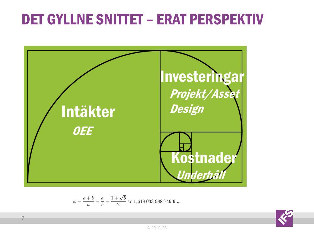 BEST IN CLASS © 2013 IFS 8 Rankade som visionärer och ledande av olika analytiker Stor kundbas.