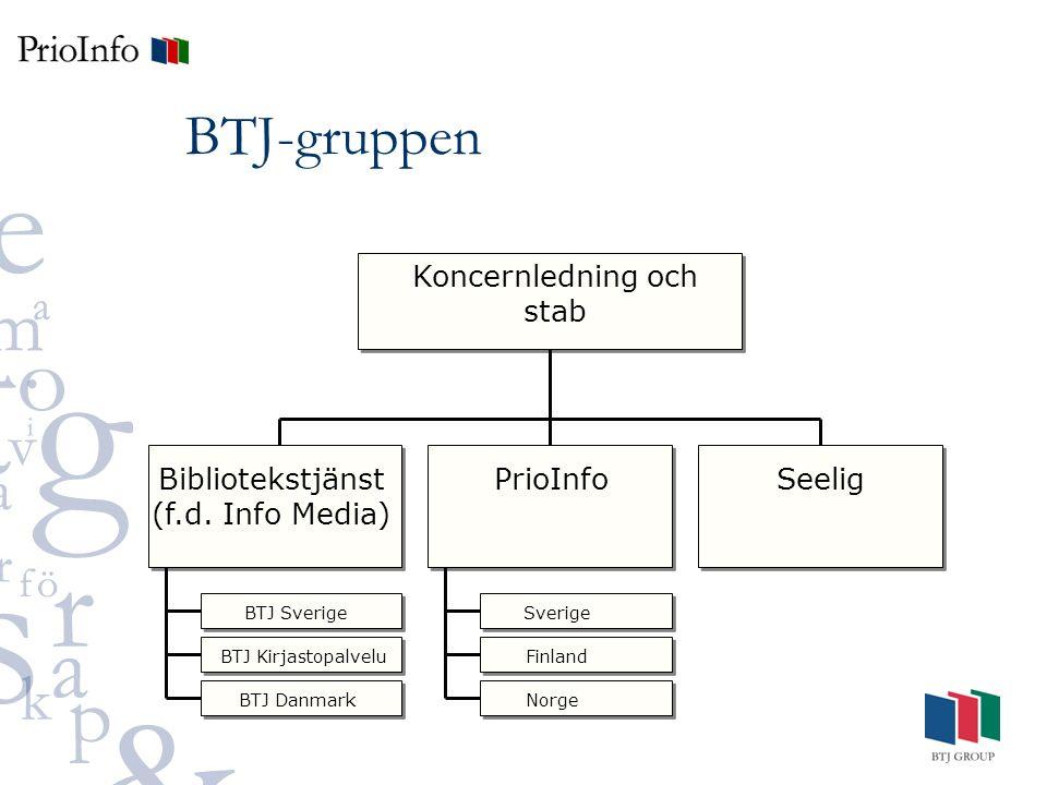BTJ-gruppen Koncernledning och stab Bibliotekstjänst (f.d.
