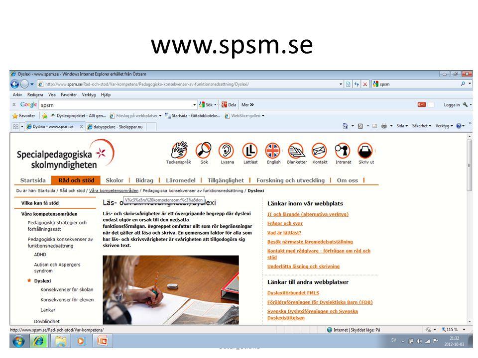 www.spsm.se 2012-10-04 Cecilia Persdotter, Länsbibliotek Östergötland 24