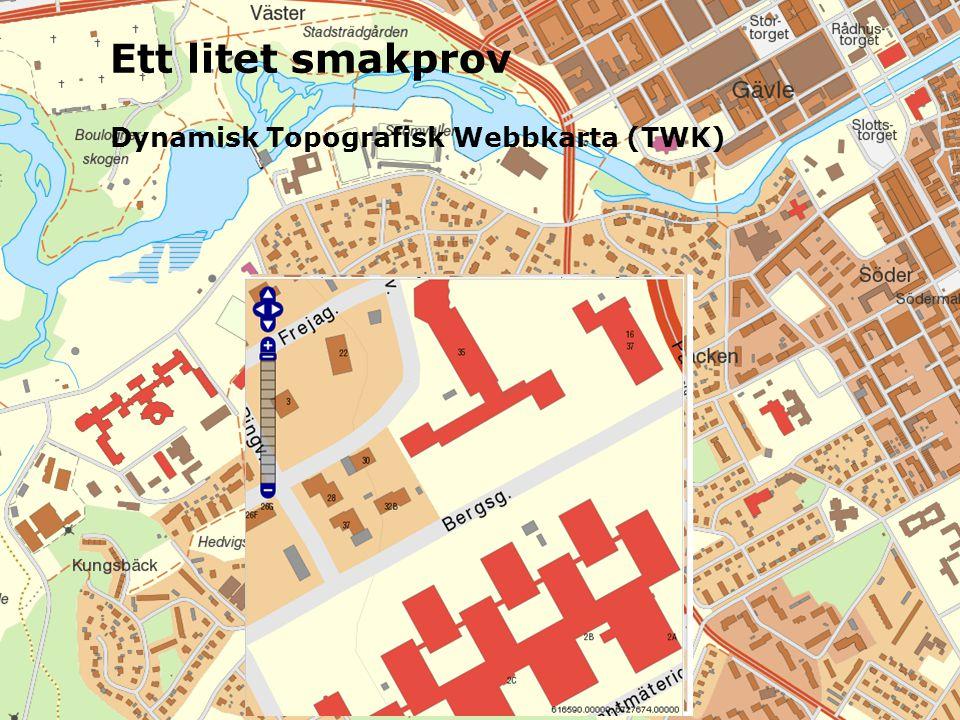 Dynamisk Topografisk Webbkarta (TWK) Ett litet smakprov