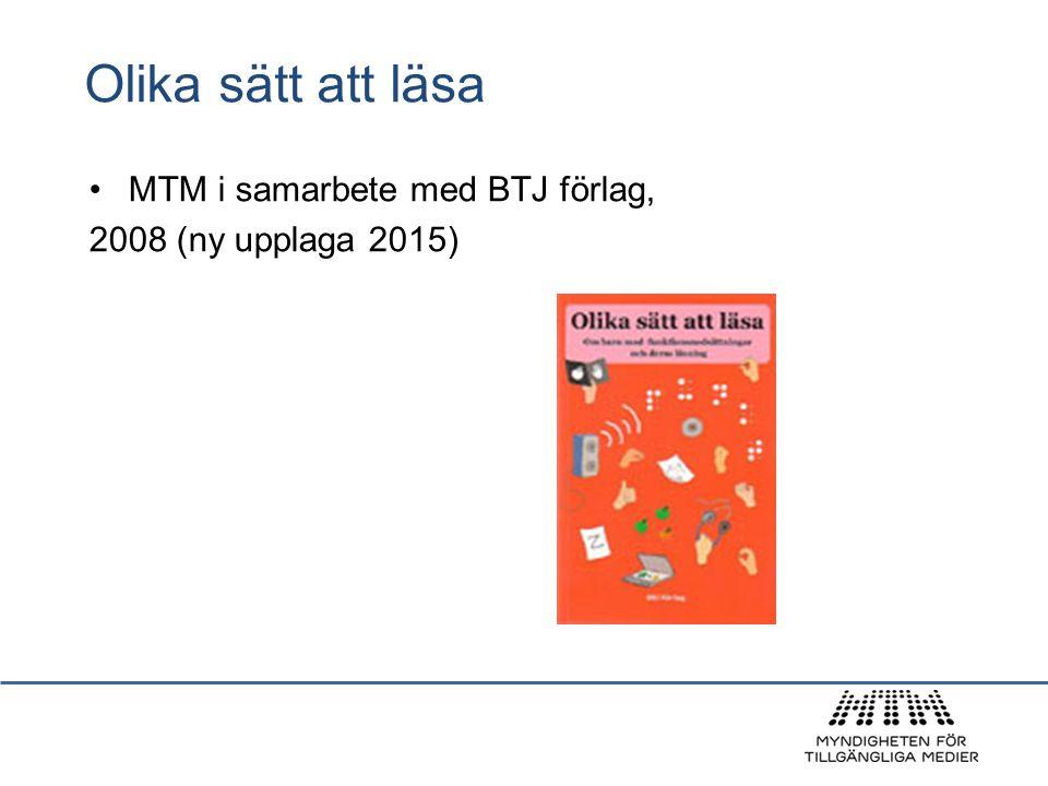 Olika sätt att läsa MTM i samarbete med BTJ förlag, 2008 (ny upplaga 2015)