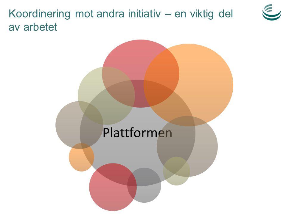 Koordinering mot andra initiativ – en viktig del av arbetet Plattformen