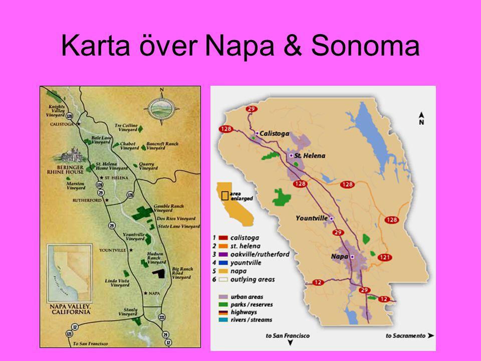 Karta över Napa & Sonoma