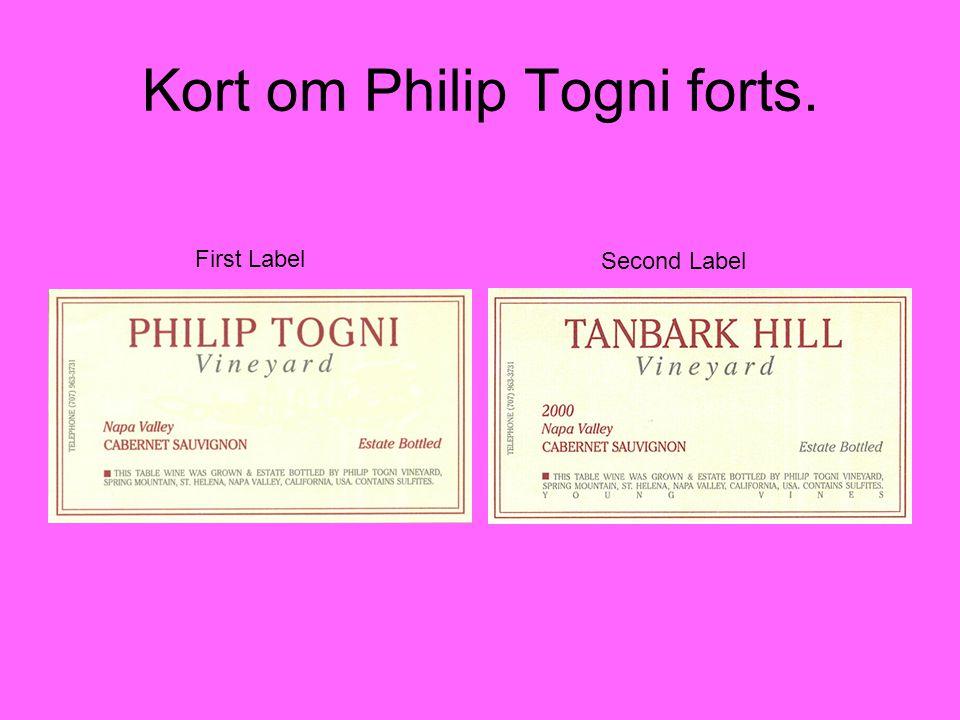 Kort om Philip Togni forts. First Label Second Label