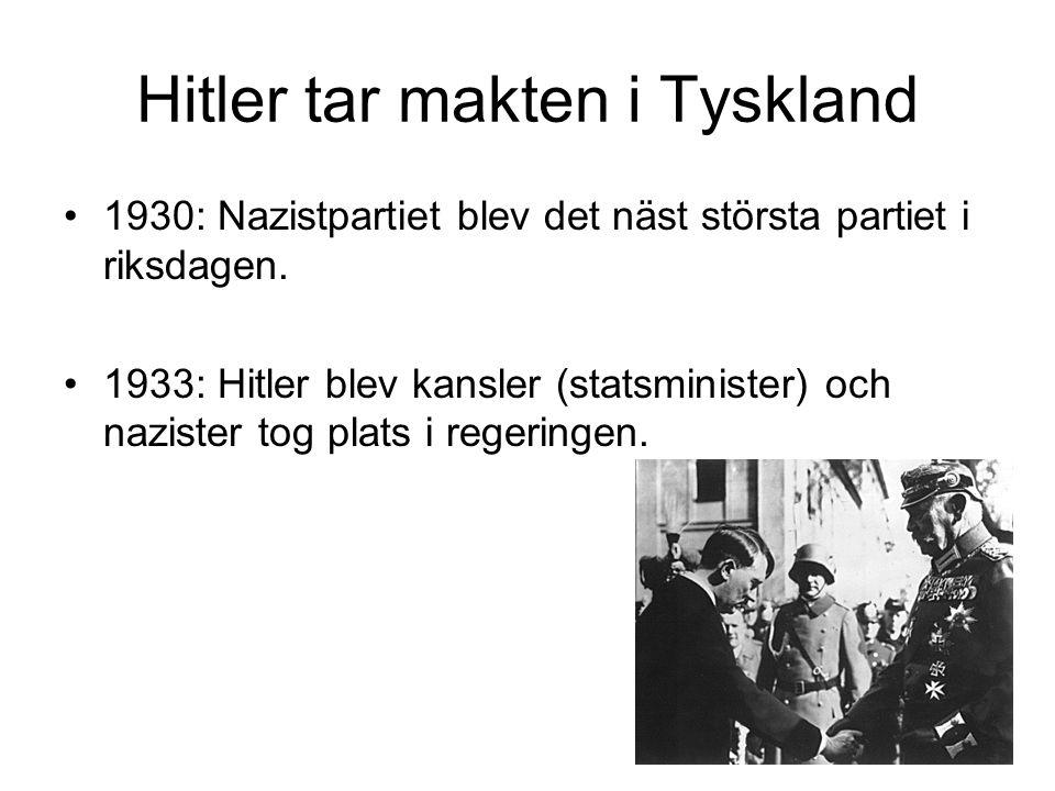 Hitler tar makten i Tyskland 1930: Nazistpartiet blev det näst största partiet i riksdagen.