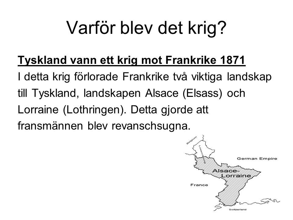 Kriget Schlieffenplanen fungerade inte till 100 %.