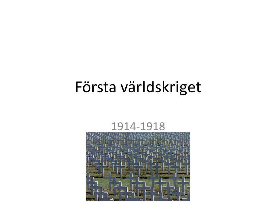 Första världskriget 1914-1918