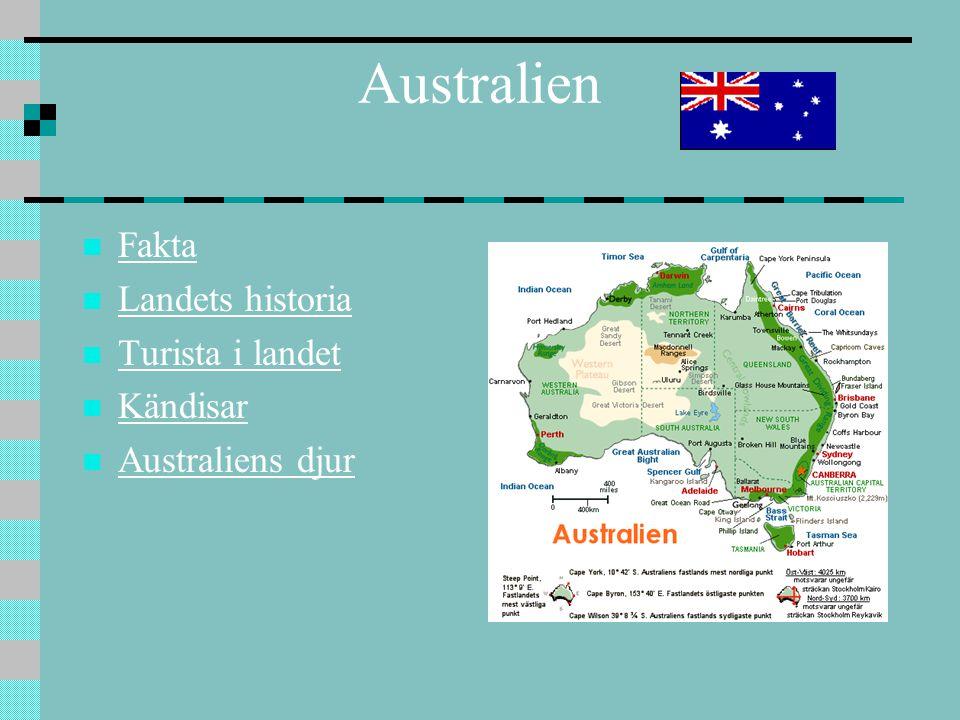 Australien Fakta Landets historia Turista i landet Kändisar Australiens djur