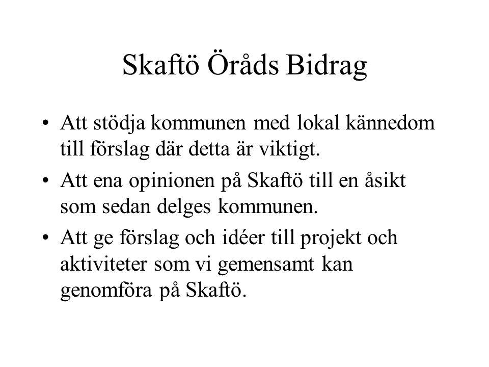 Företag och näringslivsgruppen Arbetsinriktning: Sammankallande: Sten Johansson, Fiskebäckskil -Inventera förutsättningarna för ökad företagsamhet på Skaftö.