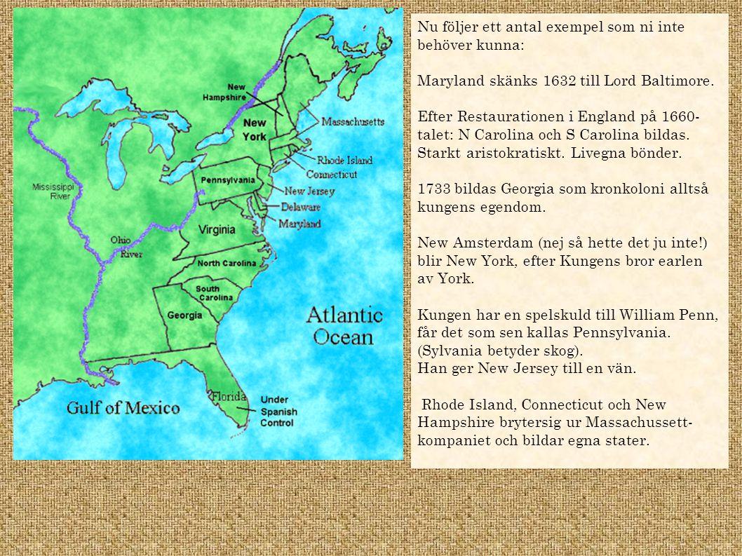 USA år 1713 Vilka är de tre stora kolonialmakterna vid denna tid.