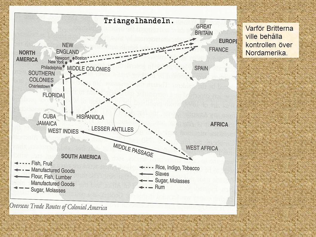 Nordamerika efter sjuårskriget 1756-1763.French Indian War.